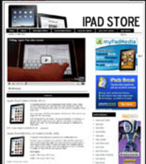 Product picture Ipad PreLoaded Website With Resale Rights